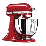 KitchenAid 5KSM125 EER Artisan 5KSM125EER-Robot de Cocina, tazón de 4.8 L, Color Rojo, 300 W, 4.8...