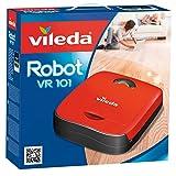 Vileda VR 101 - Robot aspirador y escoba para suelos duros y alfombras de pelo corto, 2 programas de...